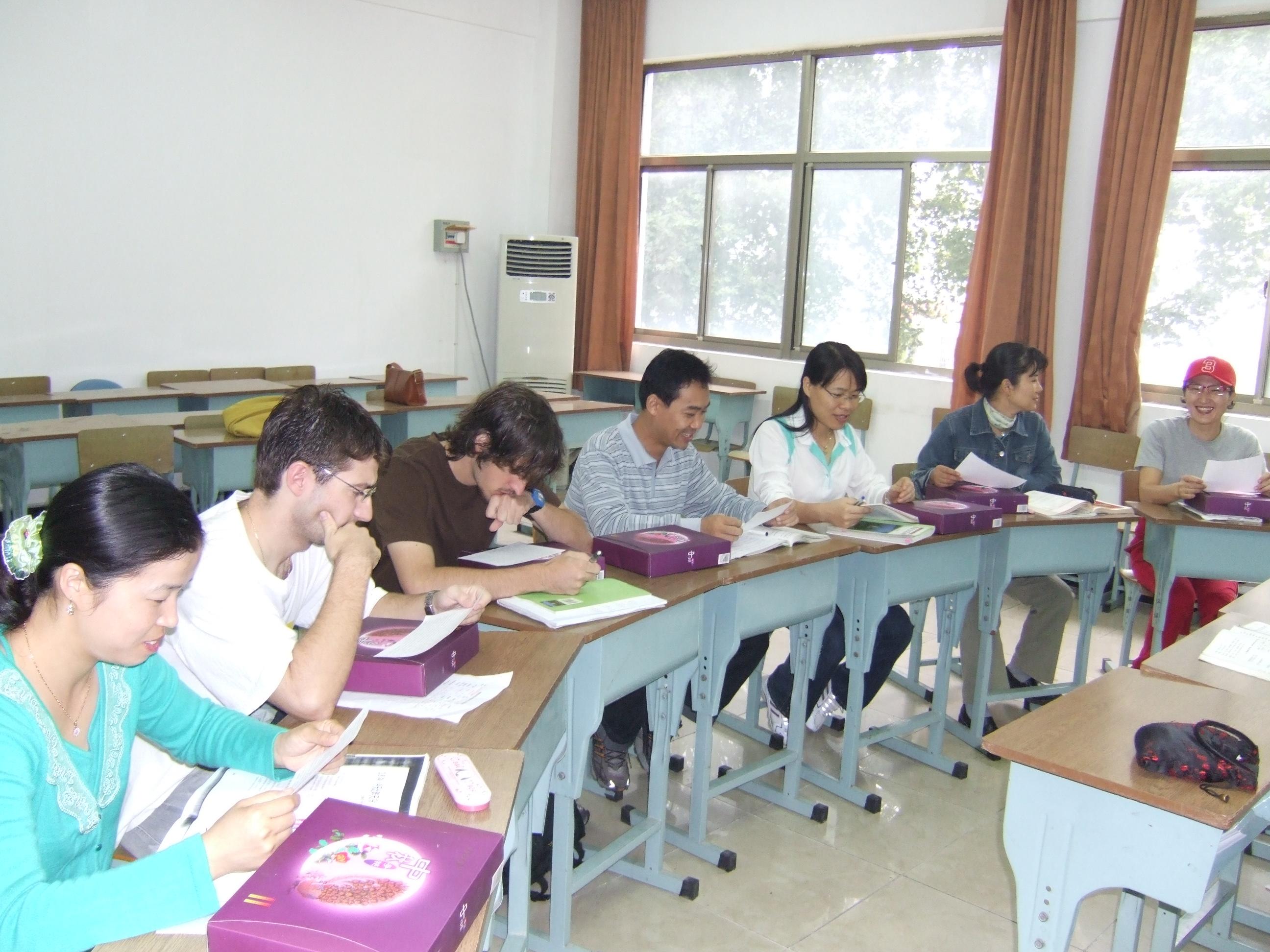 留学生上课